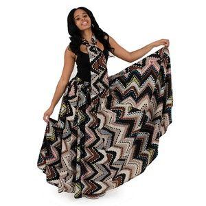 Dresses & Skirts - African Print Flared Maxi Skirt